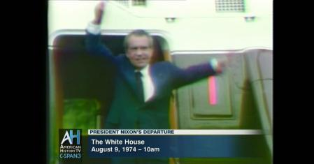nixon departs white house